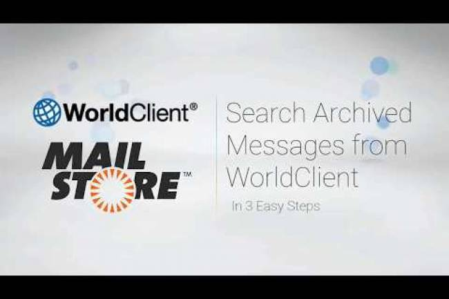 How to Search your MailStore Email Archive from MDaemon Webmail